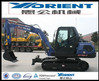 WY85 Mini excavator rubber track,wood grab,earth moving machines,0.3m3 digging bucket,ISO certificate