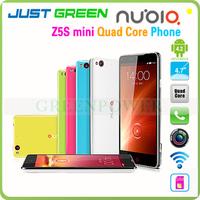 Four Color 2GB 1.7GHZ ZTE Mobile Phone Nubia Z5S Mini Android 4.2 Quad Core 2000mAh Multi languages 13.0MP CellPhone GPS Flash