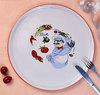 KCPL-106 Haonai ceramic fruit plate with printing