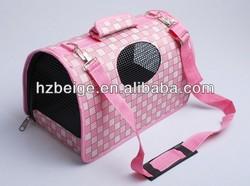 pet dog or cat sleeping bag bed fashion grid folding pet bag manufacturer China