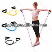 Natural Latex yoga resistance band for gym