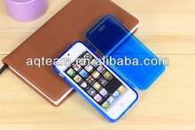 PC+TPU Hybrid Flip Transparent Cover For iphone 5s