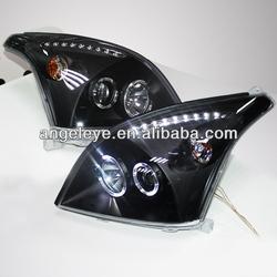 For TOYOTA Prado FJ120 LC200 LED Head lamp Angel Eyes 2003-2009 year Black V1