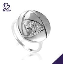 Ingenious female lovely engraved alphabet wedding ring