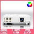 Projetor de vídeo HDMI china 1080 p led projector 3000 lumen usado projetor multimídia
