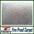 a prueba de fuego alfombra de la exposición con una película protectora