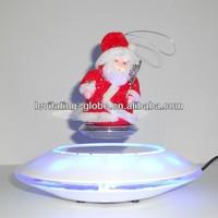 Santa Claus levitating display with shinning led lights,levitation toy