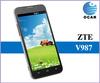 Russian spanish language ZTE V987 Quad Core MTK6589 1G RAM 4G ROM 5.0 Inch HD IPS Screen Smart phone