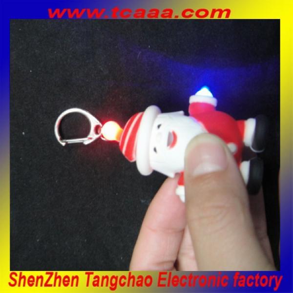 2014 personalizado chaveiros baratos com diodo emissor de som