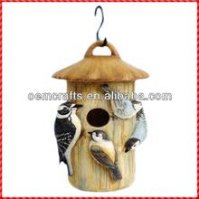 Cheap resin handmade indoor finch bird house