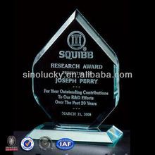 de cristal de acrílico pmma plexiglás premio trofeo placa