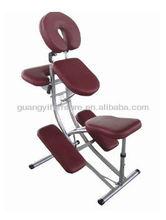 GuangYi aluminium portable adjustable massage chair