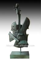 Bronze Abstract Cello Sculpture
