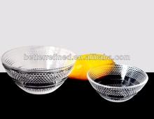 clear glass bubble bowl
