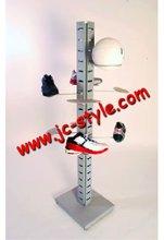 floor standing metal sport shoes display racks and stands/custom adjustable sport goods display shelf
