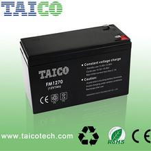 Good quality rechargeable vrla MF AGM 12v 7ah battery ups