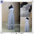 rse147 floral um ombro cinza prata tule 2013 novo modelo de vestido de noite