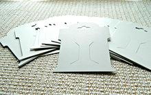 Custom Print Paper Hair Accessories Card
