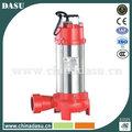 1300w sumergibles para aguas residuales los residuos sucios de la bomba de agua con cortador de trituradoras