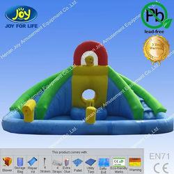 Vente en gros toboggan gonflable avec piscine inflatable jet stream aqua water side slides with for Piscine gonflable