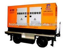 Silent Diesel 3 Phase 150 kVA Generator on Trailer