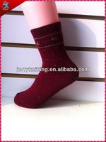 winter girl's angora women terry socks