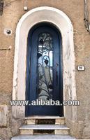 Wine Cellar - Wrought Iron Entry Door