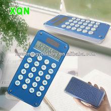 Eco-friendly Portable electronic clear solar calculator