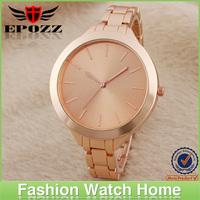 Wholesale watch made in dongguan pure gold watch men gold tone watch