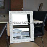 Design decorative solid cedar wood frame white gild driftwood mirror