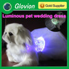 2014 new arrival fiber flashing pet clothes glowing dog clothes Luminous pet wedding dress