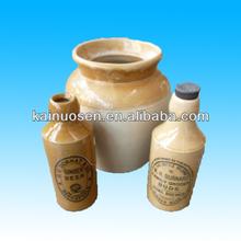 Old ceramic beer bottle