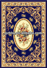 classical chinese flower blue base pattern area rugs