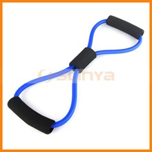 8 Characters Exercise Latex Belt Latex Body Chest Expander Fitness Weight Yoga Home Gym