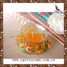 custom orange wedding favor candle gifts in transparent glass jar for home decoration