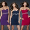China Simple Style Sheath Sweetheart Strapless Ruched Empire Beaded Short Fashion Flattering Plus Size Cocktail Dresses