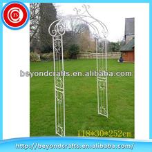 Beautiful metal outdoor garden wedding arch