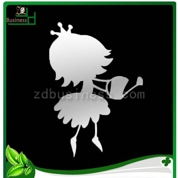30*40cm princess watering wall mirrors decorative