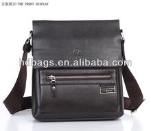 hot sale genuine leather vertical men briefcase,men handbag from China manufacturer low price