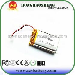 battery for toys 1500mAh China li battery- polymer 803450 1500 mah 3.7v rechargeable Batteri Cell