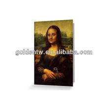 Custom seasonal flat/folded image arts greeting cards
