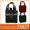 Customized wine non-woven material 6 bottle wine tote bag