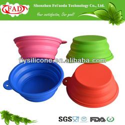 2014 Colorful Portable Novelty Folding Silicone Dog Bowl