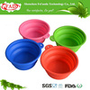 2014 Hot Selling Portable unbreakable folding silicone pet bowl