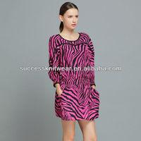 YIGELILA-6504 Nice printed dresses ladies Fashion Dresses