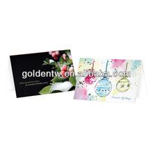 Custom seasonal flat/folded printing different shapes greeting cards