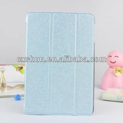 For Apple iPad Mini 2 Business Solid Silk Grain Smart Cover Case( sky blue)