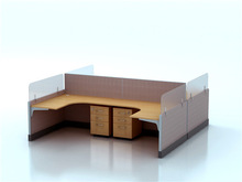 Office Workstation for 4 Person, Standard Office Furniture Dimensions