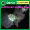 Unique pet wedding dress luminous pet wedding clothes USB rechargeable flashing pet clothes
