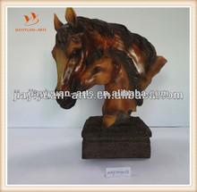resin decor horse / woodlike horse head